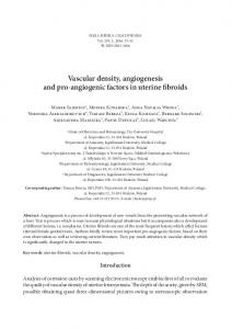 Vascular density, angiogenesis and pro ... - Semantic Scholar