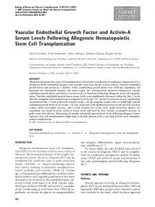 Vascular Endothelial Growth Factor and Activin-A Serum Levels ...