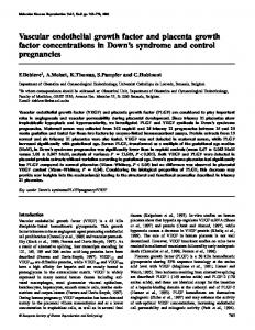 Vascular endothelial growth factor and placenta growth factor