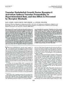 Vascular Endothelial Growth Factor Receptor-2 Activation Induces ...