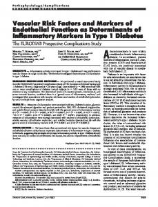 Vascular Risk Factors and Markers of Endothelial ... - Diabetes Care