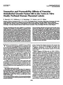 Vasoactive and Permeability Effects of Vascular Endothelial Growth ...