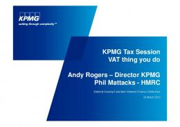 VAT thing you do - Andy Rogers and Phil Mattacks