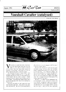 Vauxhall Cavalier (catalysed)