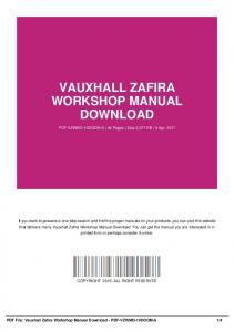 Haynes owners workshop manual vauxhall opel zafira mafiadoc vauxhall zafira workshop manual download pdf vzwmd 10doom 6 fandeluxe Image collections