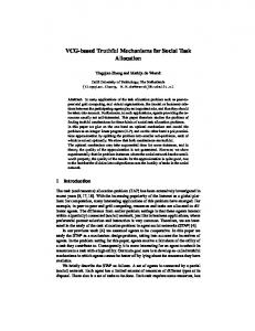 VCG-based Truthful Mechanisms for Social ... - Information Systems