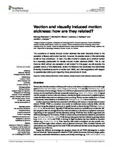 Vection and visually induced motion sickness: how are they ... - Core
