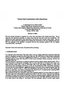 Vector field visualization with streamlines. - arXiv