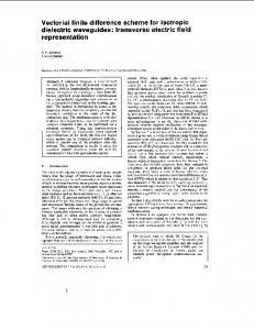 Vectorial finite difference scheme for isotropic dielectric ... - Core