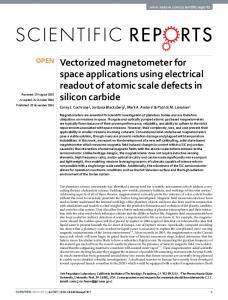 Vectorized magnetometer for space applications ... - Semantic Scholar