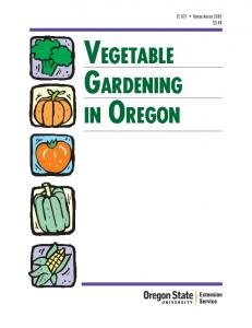 Vegetable Gardening in Oregon, EC 871 (Oregon State University ...