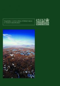 Vegetation communities of British Lakes: a revised classification
