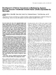 (VEGF) Expression by Neuro - Journal of Neuroscience