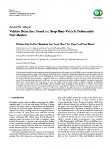 Vehicle Detection Based on Deep Dual-Vehicle Deformable Part Models