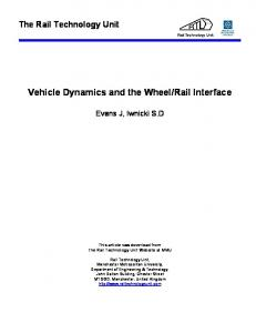 Vehicle Dynamics and the Wheel/Rail Interface - Semantic Scholar