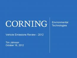 Vehicle Emissions Review - 2012