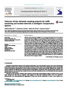 Vehicular Ad-Hoc Networks sampling protocols for traffic monitoring ...