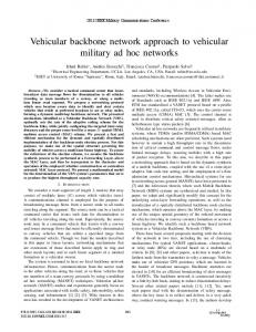 Vehicular Backbone Network Approach to Vehicular Military Ad Hoc ...