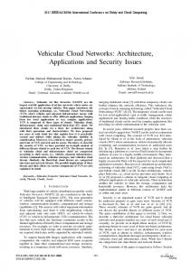 Vehicular Cloud Networks: Architecture, Applications and Security ...