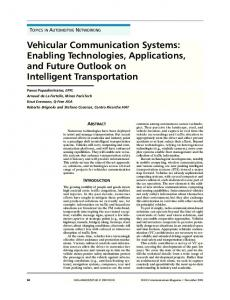 Vehicular Communication Systems: Enabling Technologies ...