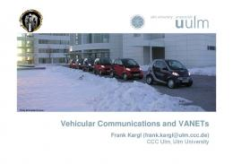 Vehicular Communications and VANETs - CCC Event Blog