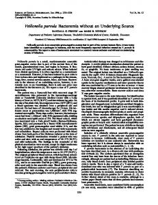 Veillonella parvula - Journal of Clinical Microbiology - American ...