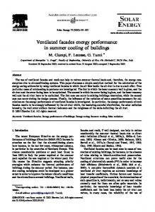 Ventilated facades energy performance in summer