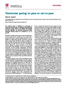 Ventricular pacing: to pace or not to pace - Oxford Journals