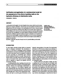 Verification and application of a mathematical model for ... - CiteSeerX