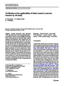 Verification of the applicability of lattice model to ... - Springer Link