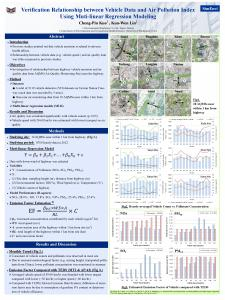 Verification Relationship between Vehicle Data and Air Pollution Index ...