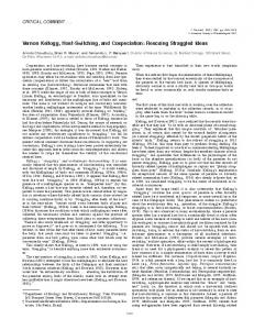 Vernon Kellogg, Host-Switching, and Cospeciation - BioOne