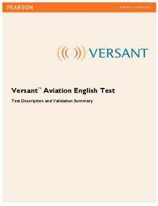 Versant Aviation English Test