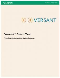 Versant Dutch Test