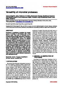 Versatility of microbial proteases