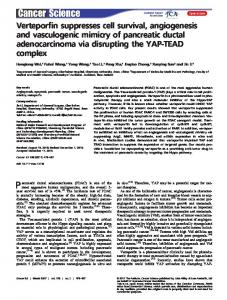 Verteporfin suppresses cell survival ... - Wiley Online Library