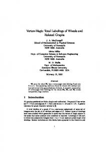 Vertex-Magic Total Labelings of Wheels and Related ... - DocServer