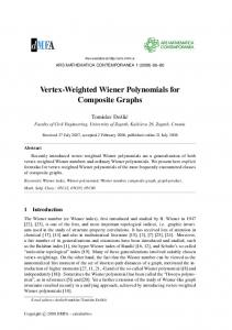 Vertex-Weighted Wiener Polynomials for Composite Graphs