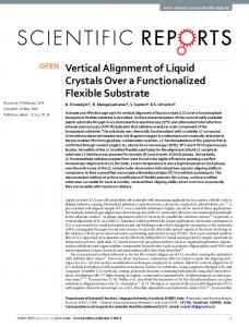 Vertical Alignment of Liquid Crystals Over a