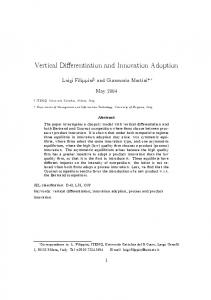 Vertical Differentiation and Innovation Adoption