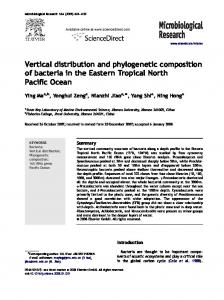 Vertical distribution and phylogenetic composition of bacteria in the ...