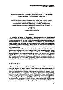 Vertical Handover between WiFi and UMTS Networks: Experimental