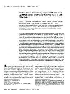 Vertical Sleeve Gastrectomy Improves Glucose and Lipid Metabolism ...