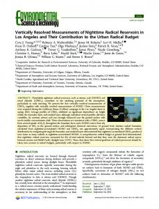 Vertically Resolved Measurements of Nighttime ... - ACS Publications