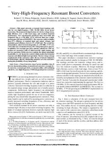 Very-High-Frequency Resonant Boost Converters - Research ...