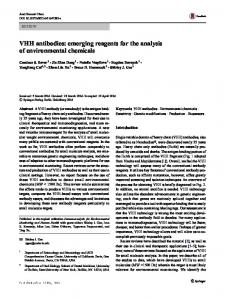 VHH antibodies: emerging reagents for the analysis of