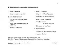VI. Semiconductor Devices and Microelectronics