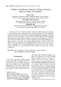 Vibration and dynamic stability of pipes conveying fluid ... - Springer Link