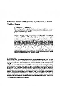 Vibration-based SHM System: Application to Wind Turbine Blades