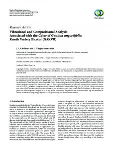 Vibrational and Compositional Analysis Associated with the Color of ...